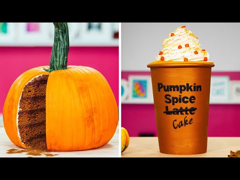 Starbucks Pumpkin Spice Latte CAKE & More PUMPKIN Cakes | How To Cake It Step By Step