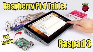 Raspberry Pi 4 Tablet - RasPad 3 First Look