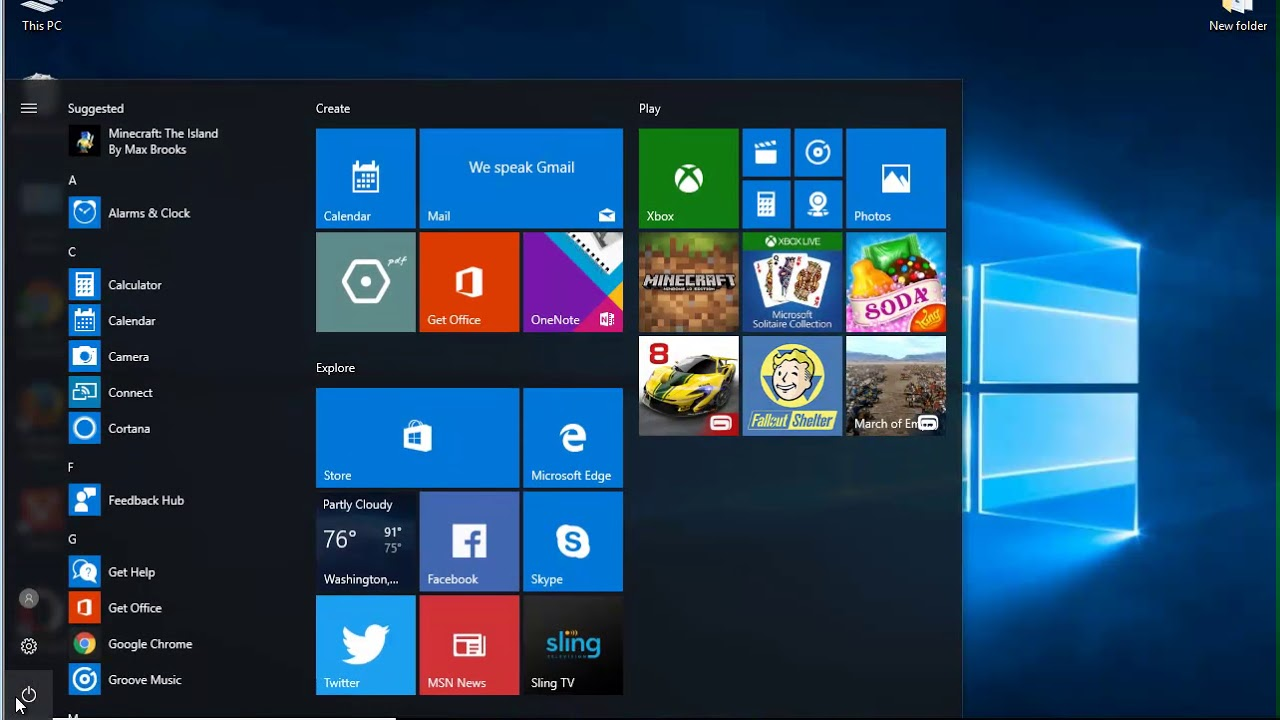 Uninstall Sling TV on Windows 10 Creators Update
