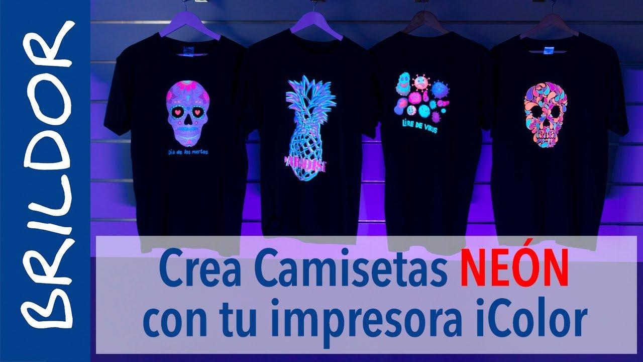 Estampa camisetas fluorescentes productos con los tóner neón jpg 1280x720  Neon disenos para playeras 53797cc3ce14c