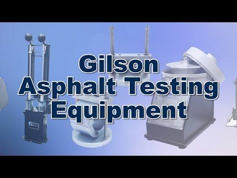 Gilson Asphalt Testing Equipment