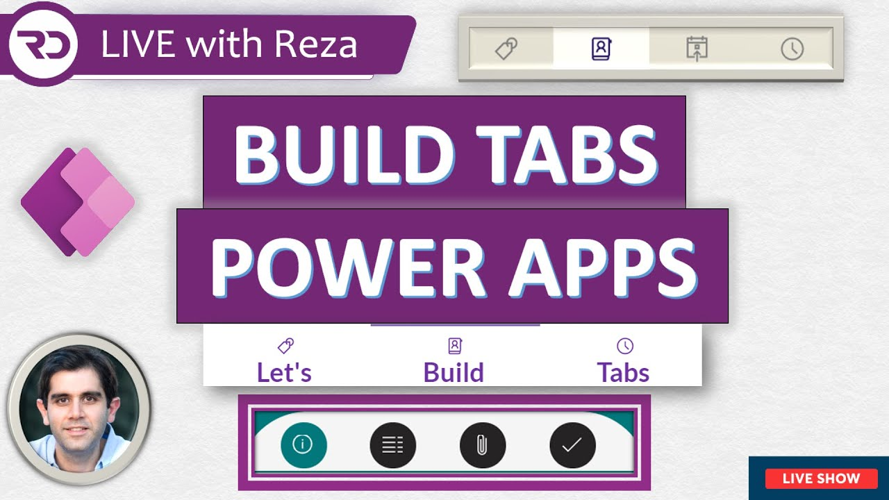 Build Tabs in Power Apps 🔴 LIVE (July 24, 2021)