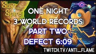 Slay the Spire Speedrun | Defect Any% Unseeded 6:09 [World Record]