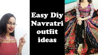 Easy Diy ideas For Navratri outfits  Reuse old clothes to make new  In Hindi English subtitles