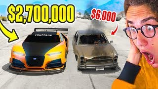 6000 CAR Vs. 2700000 SUPERCAR In GTA 5