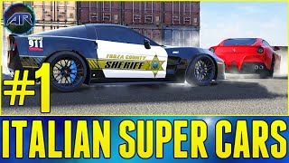 Forza 5 : Top Gear Challenge - ITALIAN SUPERCARS VS POLICE (Part 1)