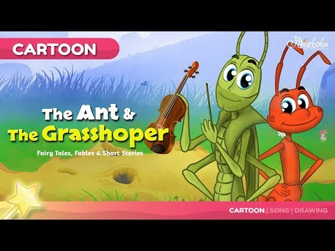 The Ant and the Grasshopper New Cartoon | Bedtime Stories for Kids in English