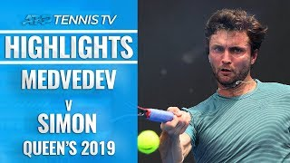 MONSTER Rallies in Medvedev v Simon Epic | Queen's 2019