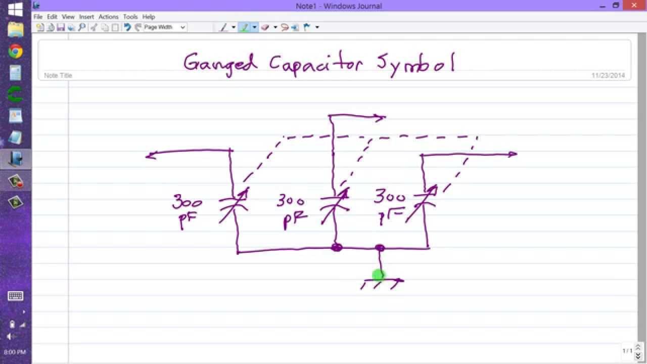 Ganged Capacitor Symbol - YouTube