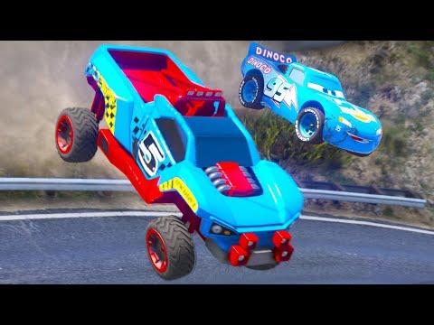 HOT WHEELS CARS DINOCO RACE CHALLENGE (Dinoco Lightning Mcqueen)