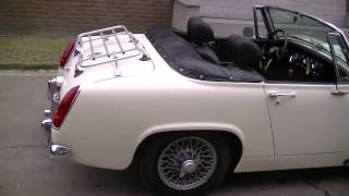 MG Midget 1967 Old English White-VIDEO- www.ERclassics.com