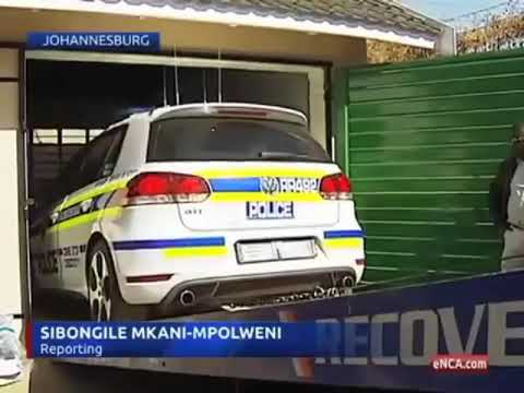 Johannesburg police found a fake police car and fake police driver