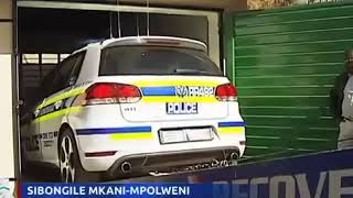 Johannesburg police found a fake police car and fake police driver run away they committing robbery