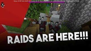 RAIDS ARE FINALLY HERE!! NEW UPDATE 1.11.0.3 Minecraft PE