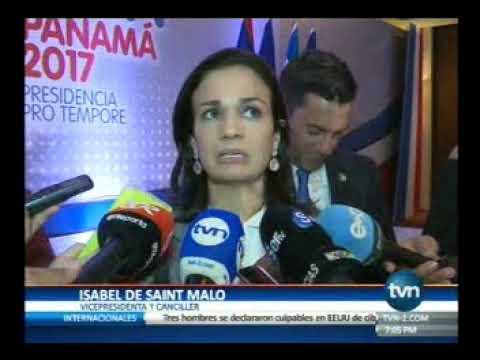 Tvn Vicepresidenta Isabel de Saint Malo, reunion del SICA en Panamá