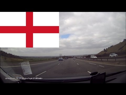 Driving in England -- From Cambridge to Wallingford, Oxfordshire 2 hours