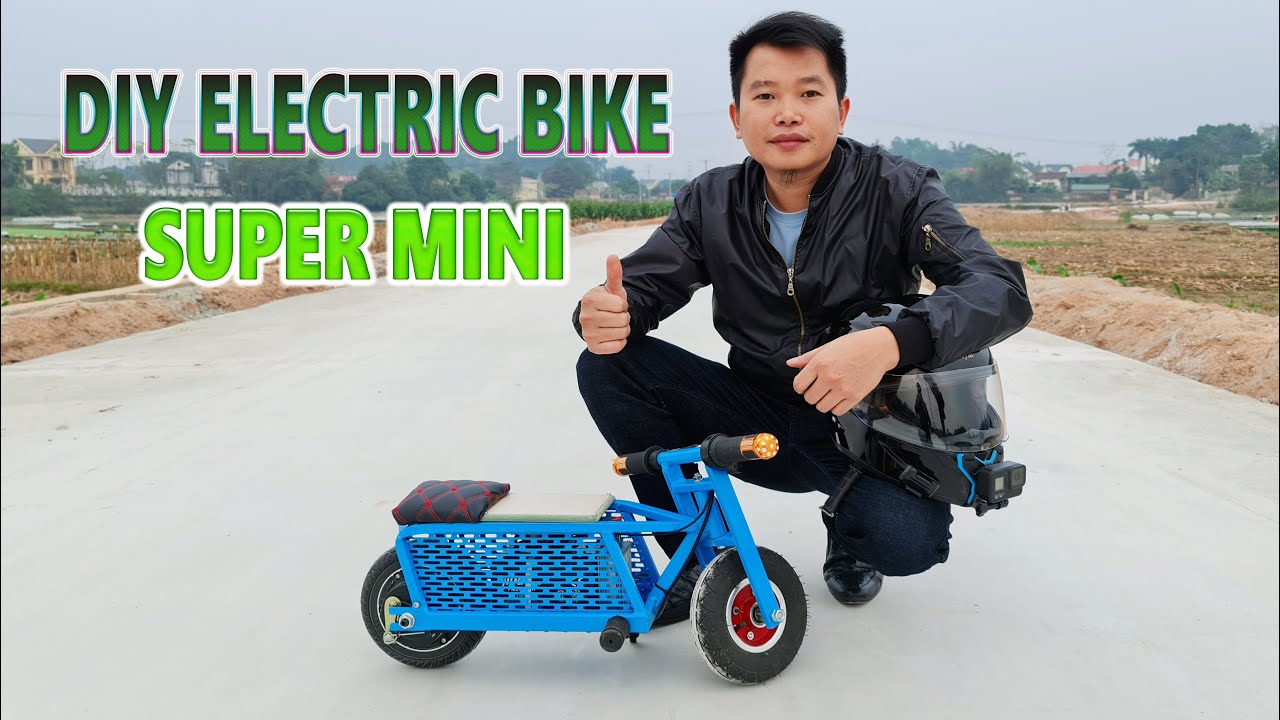 DIY Electric Bike Super Mini 350W 24v At Home