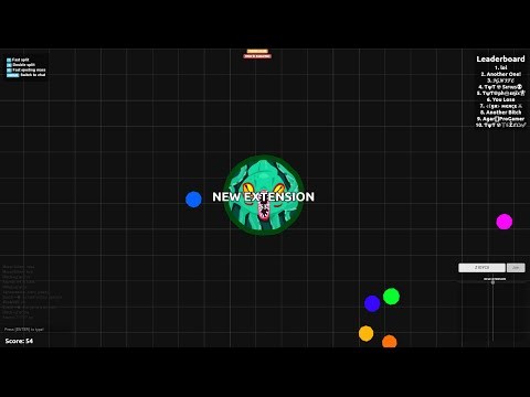 AGAR IO NEW EXTENSION // Zoom,Minimap,Chat and More! [After