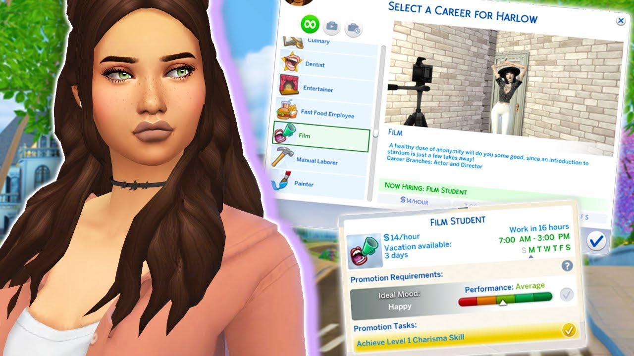 sims 3 film career how to join