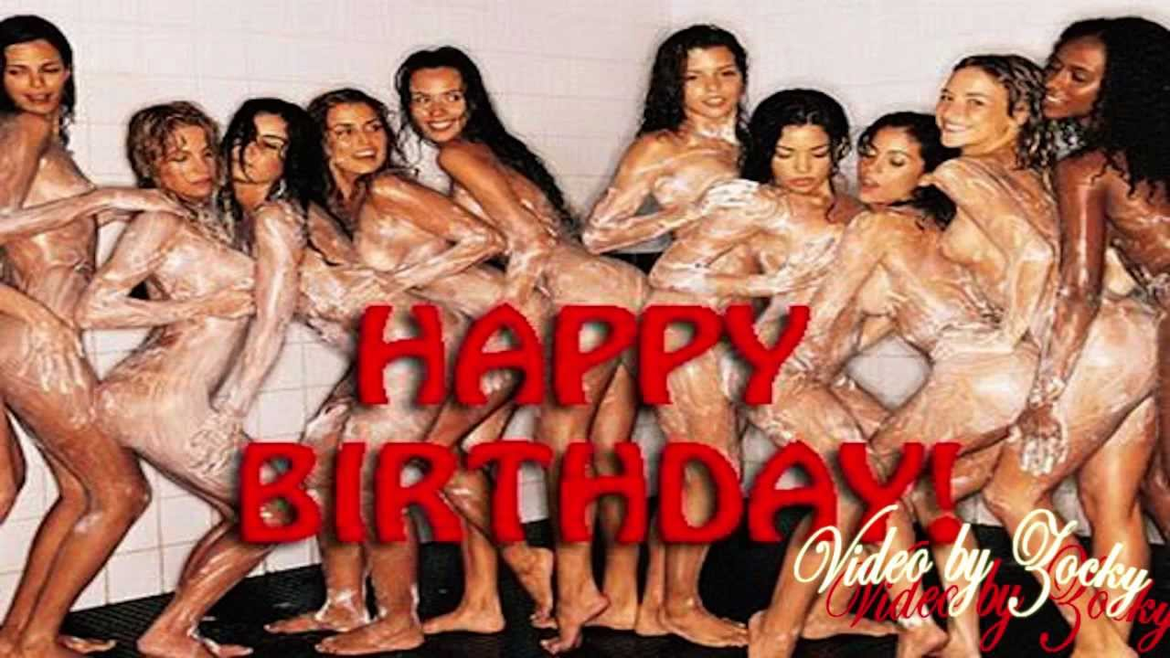 happy birthday by naked woman