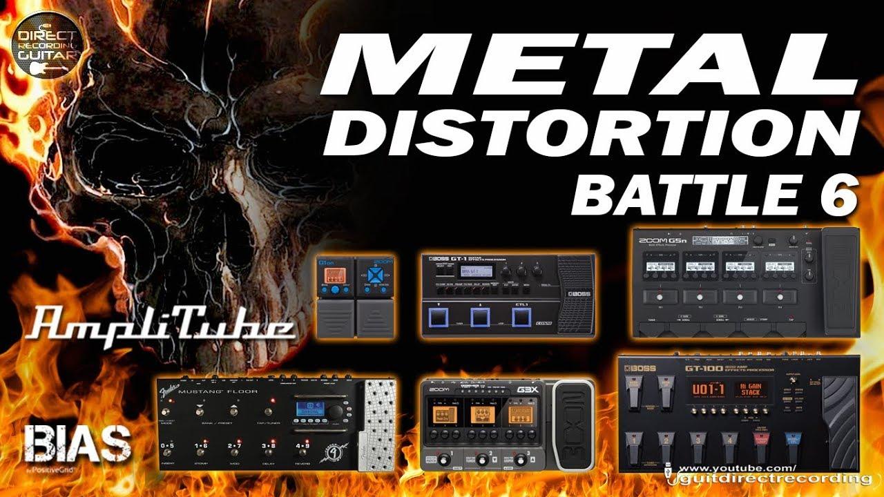 Download [BATTLE 6] METAL DISTORTION - Zoom G5n vs Boss GT-100 vs BIAS FX vs Boss GT1 vs Zoom G1on...