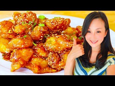 Sesame Chicken, Quick & Delicious Recipe, CiCi Li - Asian Home Cooking Recipes