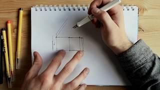 Разработка проекта дома. Разрез от руки в реальном времени с комментариями/ 2018 год