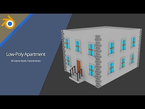 Low-Poly Apartment Building  | 3D Game Assets [Tutorial]