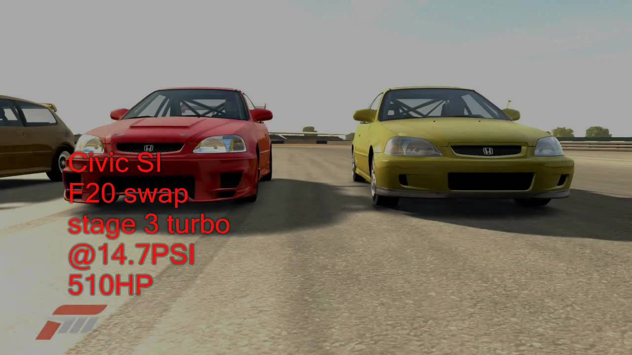 Fm3 Drag Racing Ricer Turbo Civic Vs S C Sleeper Civic Hd
