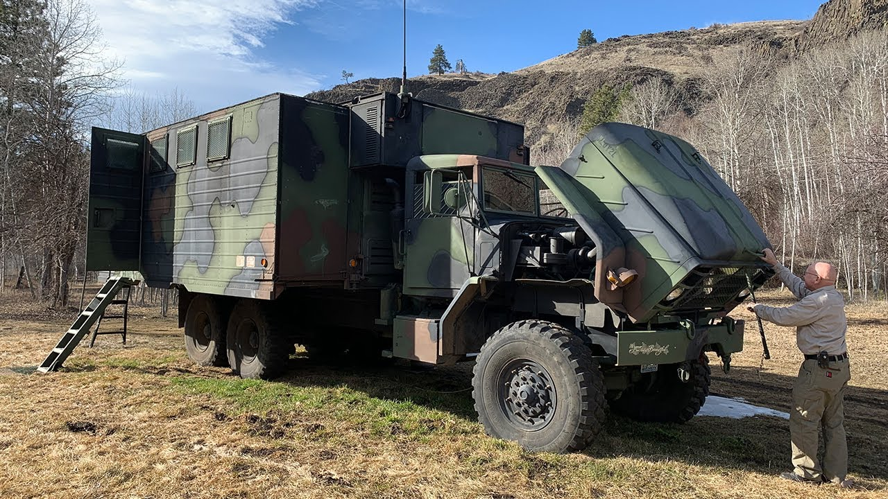 5 TON Military Truck Turned OFF GRID HOME for FULL TIME RV living! - YouTube