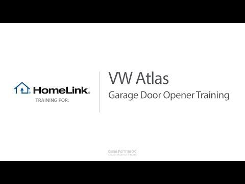 Volkswagen Atlas HomeLink Training for Garage Doors
