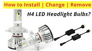 How to Install Change 9003 HB2 H4 LED headlight Bulb in Car Motorcycle