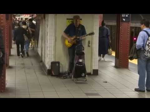 Pink Floyd at Lex & 53rd St Subway - Shine on you crazy diamond...