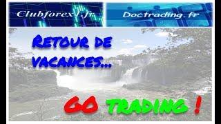 Retour de vacances, GO trading !
