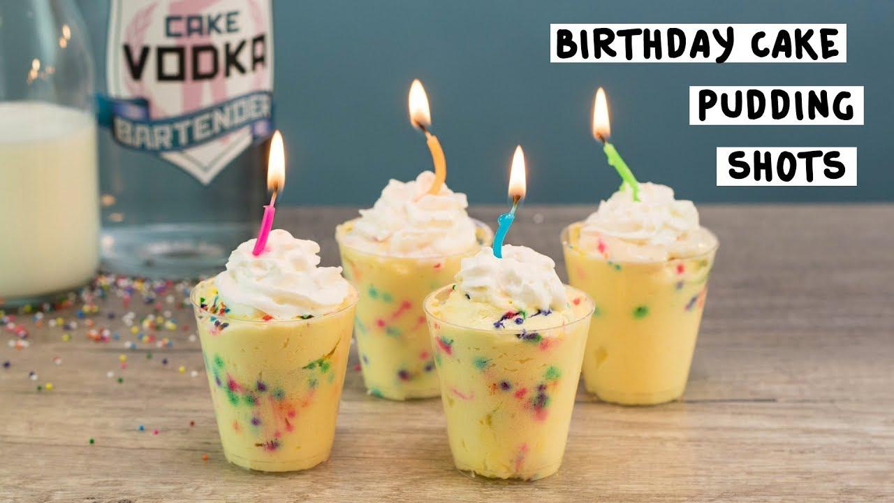 Birthday Cake Pudding Shots Tipsy Bartender