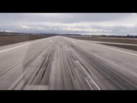 Tiefer Überflug Flughafen Stuttgart