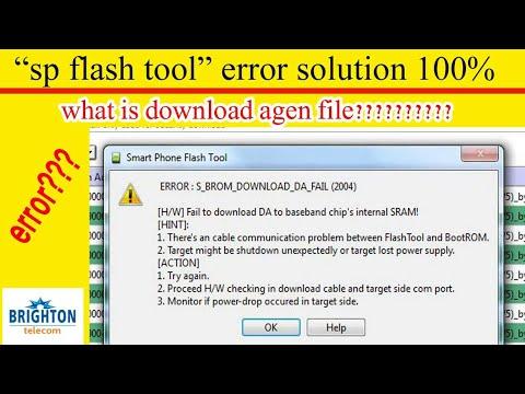 Sp Flash Tool Error Problem Solution