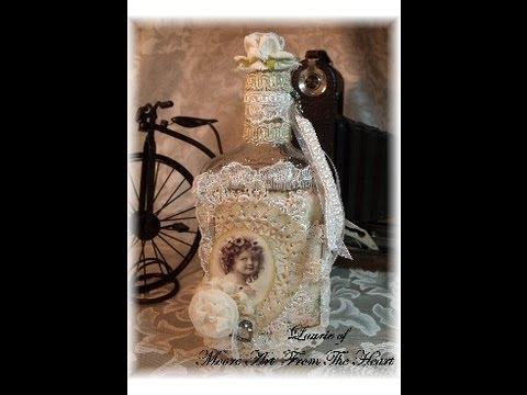 Laurie Moores Decorated Vintage Bottle