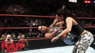 WWE 2K20 RAW SHAYNA BASZLER VS SARAH LOGAN (LIV MORGAN & RUBY RIOTT AT RINGSIDE)