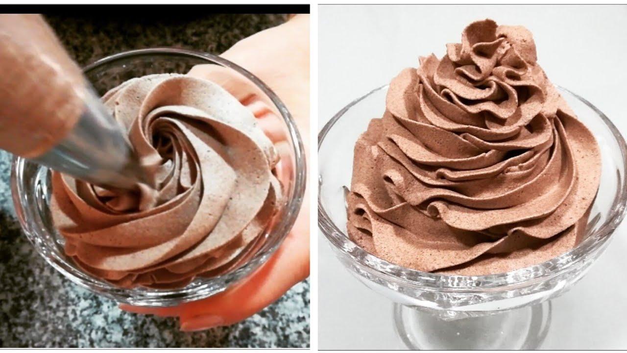 Crema chantilly y chocolate