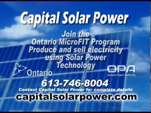 Ontario MicroFIT Program- Ottawa Capital Solar Power Company
