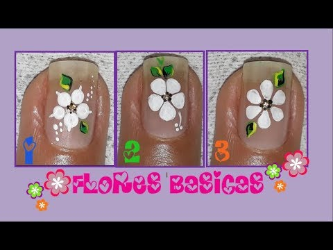 Flores Básicas Para Uñas Flores Fáciles Basic Flowers For Nails Youtube
