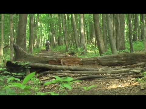 Mountain biking Mercer County Park NJ