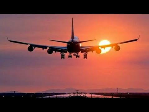 Aeroplane Landing in Multan, international Airport.