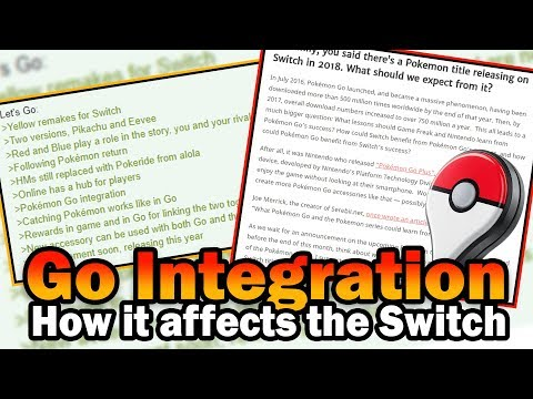 How Pokemon Go Integration will affect the NEW Pokemon Switch games? NEW Device possibilities?!