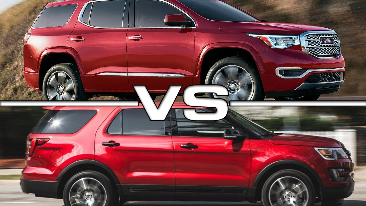 Gmc Acadia Vs Ford Explorer Youtube