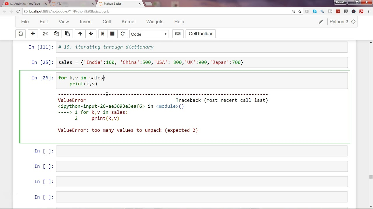 Python 3 Programming Tutorial 8 Loops How To Iterate Over