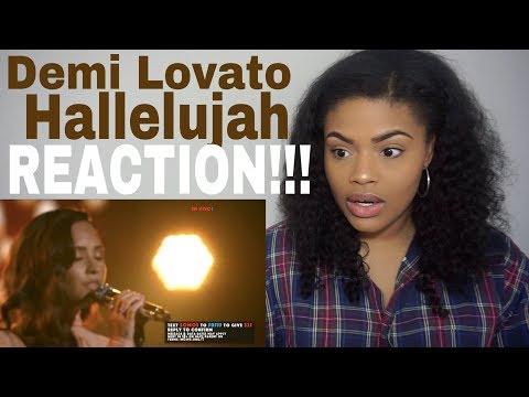 Demi Lovato - Hallelujah // REACTION!!!