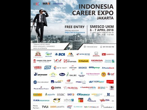 100 TOP Company Recruitment Job Fair Jakarta  6 - 7 April 2018