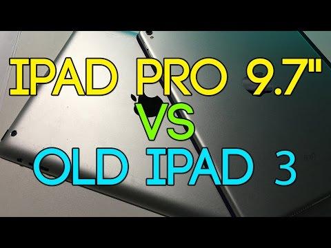 """iPad 3 (2012) VS. iPad Pro 9.7"""" (2016) - 4 YEARS COMPARAISON"""